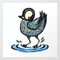 cheeky duck colour Art Print