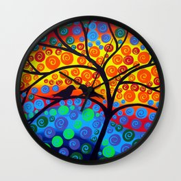 Tree of Joy III Wall Clock