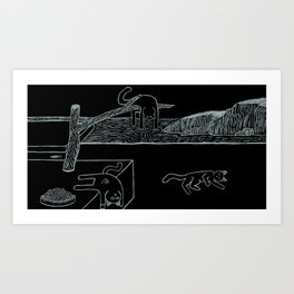 The Persistence of Naps Art Print