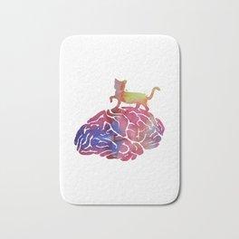 Cat and brain Bath Mat