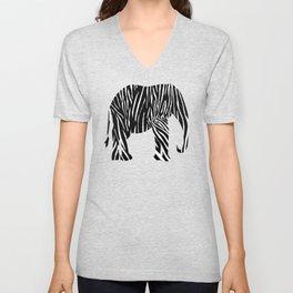 Zebra Elephant Safari Unisex V-Neck