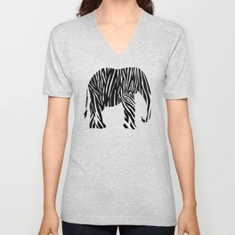Zebra Elephant Safari Unisex V-Neck