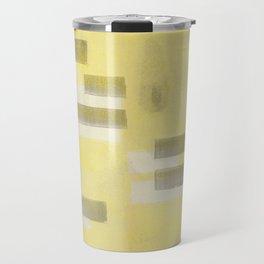 Stasis Gray & Gold 1 Travel Mug