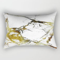 Gold-White Marble Impress Rectangular Pillow