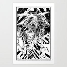 Devil glitch  Art Print