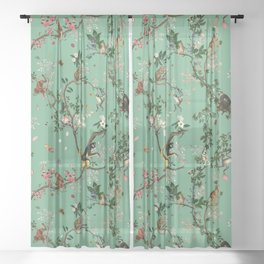 Monkey World Green Sheer Curtain