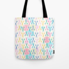 Hair Scissors Pastel Pattern Tote Bag