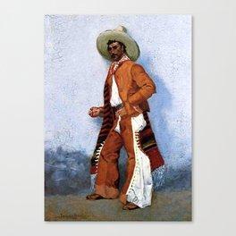 "Frederic Remington Western Art ""A Vaquero"" Canvas Print"