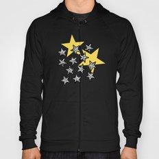 Yellow Zebra print stars Hoody