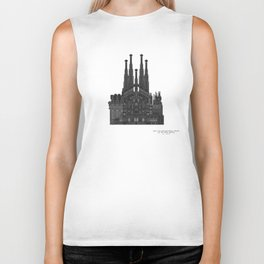 HexArchi - Spain, Barcelona, Basilica and Expiatory Church of the Holy Family Biker Tank