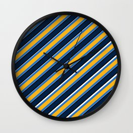 TEAM COLORS 1…Navy, gold ,white, light blue Wall Clock