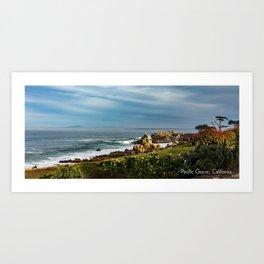 Pacific Grove Seascape, California Art Print
