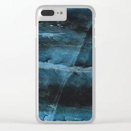 Dark blue Clear iPhone Case