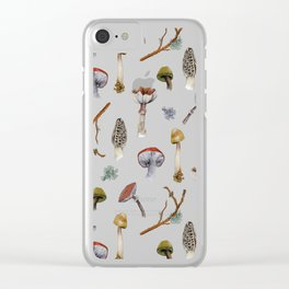 Mushroom Forest Party Clear iPhone Case