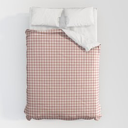 Terracotta gingham check Comforters