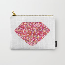 Pink Orange Diamond Carry-All Pouch