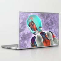 sci fi Laptop & iPad Skins featuring Sci Fi Girl  by Brian Raggatt