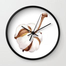 Cotton Flower 01 Wall Clock