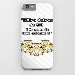 Ese mono de 3 cabezas iPhone Case