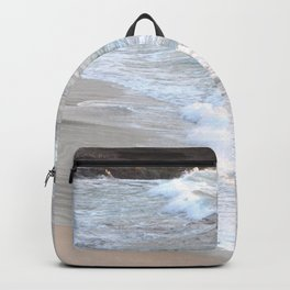 TWILIGHT ON THE OCEAN WAVES IN THE COVE Backpack
