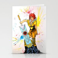transistor Stationery Cards featuring Red Transistor by Salzburn Designs Shop