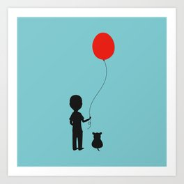 Boy with the Red Balloon Art Print
