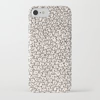 meow iPhone & iPod Cases featuring A Lot of Cats by Kitten Rain