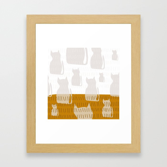 Coit Cat Pattern 4 Framed Art Print