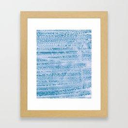 Blue Water Aqua Splash Beading Bouy Framed Art Print