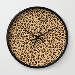 Leopard Spots Pattern Wall Clock