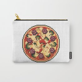 Pizza pixel art on white background. Carry-All Pouch