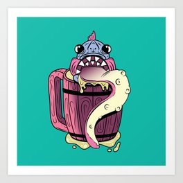 Fishy Grog Art Print