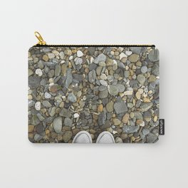 Brown pebbles and silver shoes Carry-All Pouch