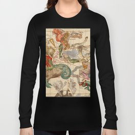 Star Atlas Vintage Constellation Map Ignace Gaston Pardies Long Sleeve T-shirt