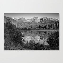 Rocky Mountain Shadows - Colorado Landscape Black and White Canvas Print