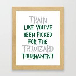 Slytherin Triwizard Training Framed Art Print