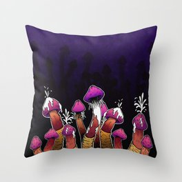 Infected Mushroom Throw Pillow