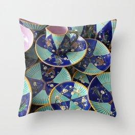 Wedgwood majolica Fan pattern Throw Pillow