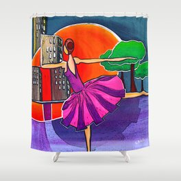Dreams of the big city remix 2 Shower Curtain