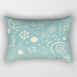 Hand Drawn Music Rectangular Pillow