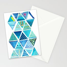 Triangle Study in Blue Stationery Cards