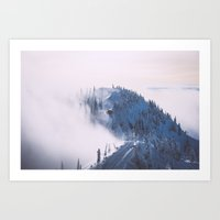 skiing Art Prints featuring Cat skiing  by Olivier Gosselin