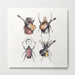 Meet the Beetles (white option) Metal Print