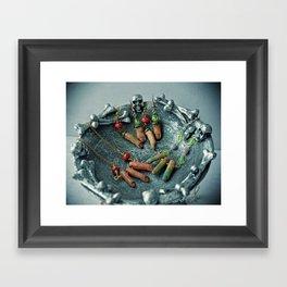 Zombie Fingers Framed Art Print