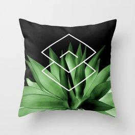Agave geometrics III Throw Pillow