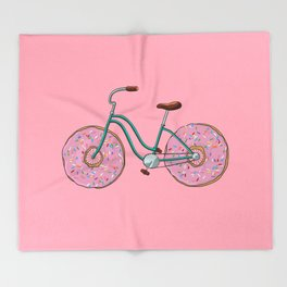 Donut Bicycle Throw Blanket