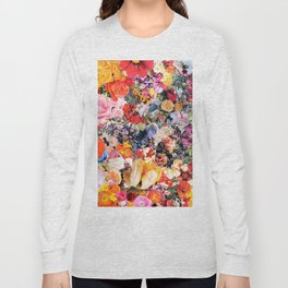 Garden Variety collage art Long Sleeve T-shirt