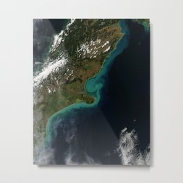 302. Coastal Flooding in New Zealand, Early March Metal Print
