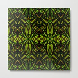 Fractal Art Stained Glass G313 Metal Print