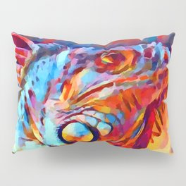 Iguana Watercolor Pillow Sham